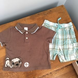 "Gymboree ""Puppy Playtime"" Pug Outfit"